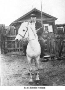 На колхозной лошади